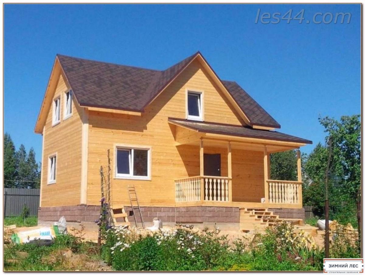 """Строительство домов из бруса компанией """"Зимний лес"""""""
