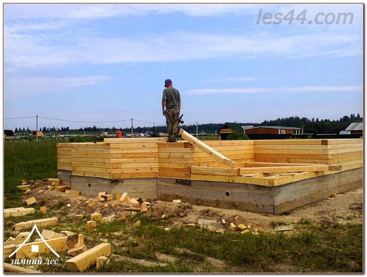 Строительство домов из бруса компанией Зимний лес